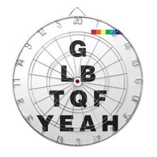 ¡GLBTQF sí! Tabla Dardos