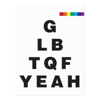 GLBTQF Yeah! Postcard