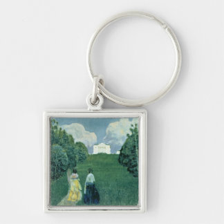 Gleam of the Sunset, 1904 Silver-Colored Square Keychain