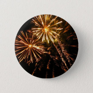Gleaming Gold Burst Pinback Button