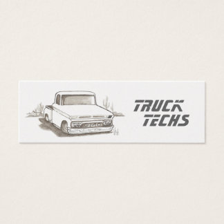 Gleaming Gold Skinny Automotive Business Cards