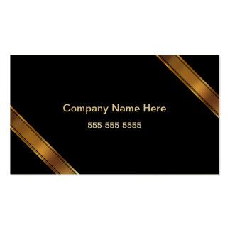 Gleaming Golden Financial Advisor Business Cards