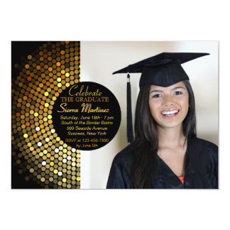 """Gleaming Grad Photo Invitation 5"""" X 7"""" Invitation Card"""