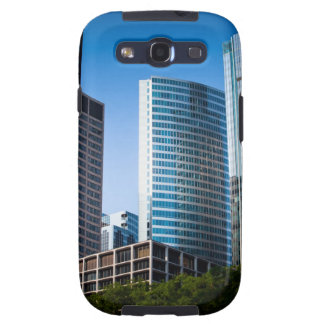 Gleaming skyscrapers in Chicago's financial Galaxy SIII Cover