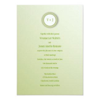 "Gleaming Soft Green and White Wedding Invitation 5.5"" X 7.5"" Invitation Card"