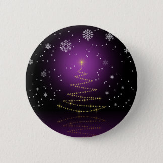 Gleamy and Snowy Christmas - Button