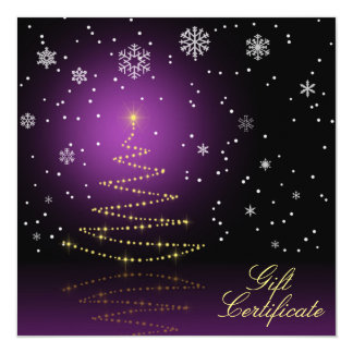 Gleamy and Snowy Christmas - Gift Certificate Card