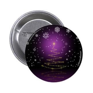 Gleamy y navidad Nevado - botón Pin Redondo De 2 Pulgadas