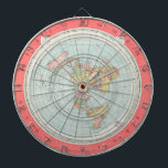 "Gleason&#39;s NEW STANDARD MAP OF THE WORLD Dart Board<br><div class=""desc"">A beautifully presented Alexander Gleason&#39;s &quot;NEW STANDARD MAP OF THE WORLD&quot; printed in high-resolution on a quality dart board. It&#39;s a longitude and time calculator, and represents our flat earth well. It also provides information on the motions of the Sun above the Earth (hEart). As stated by Mr. Gleason himself,...</div>"