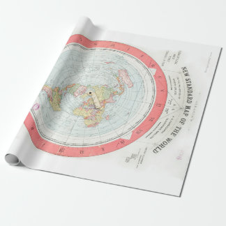 Gleason's 'NEW STANDARD MAP OF THE WORLD' Wrap Wrapping Paper