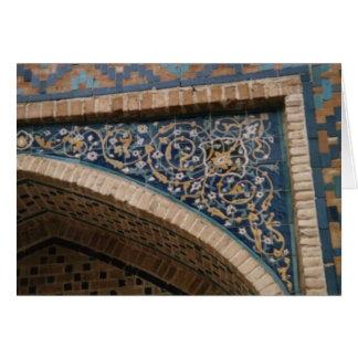 Glebe Reading Garden: Blue Tile Card