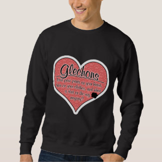 Glechon Paw Prints Dog Humor Sweatshirt