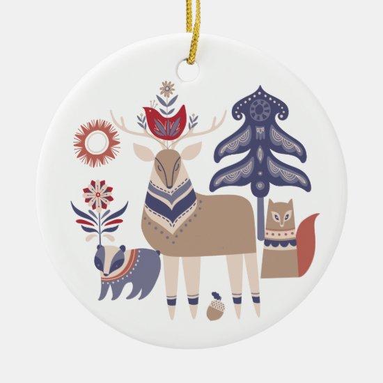 Gledelig Jul - Nordic Design Christmas Ceramic Ornament
