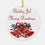 Gledelig julio ornaments para arbol de navidad