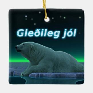 Gleðileg Jól - Ice Edge Polar Bear