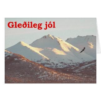 Gleðileg Jól - Winter Eagle Card