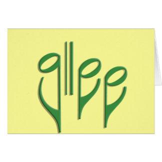 glee club card
