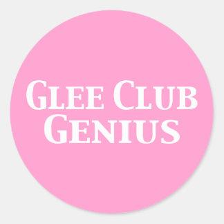 Glee Club Genius Gifts Classic Round Sticker