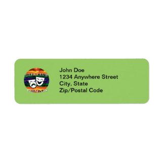Glee Club Presents Badge Label