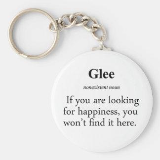 Glee Definition Basic Round Button Keychain