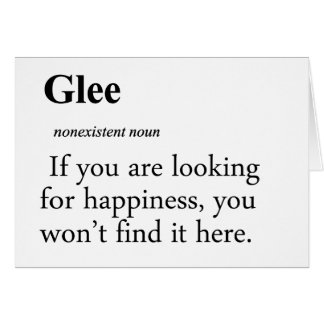 Glee Definition Cards
