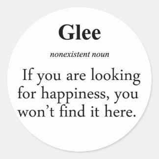 Glee Definition Classic Round Sticker