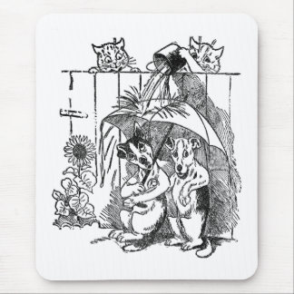 Gleeful Cats Douse Dogs Vintage Louis Wain Mouse Pad