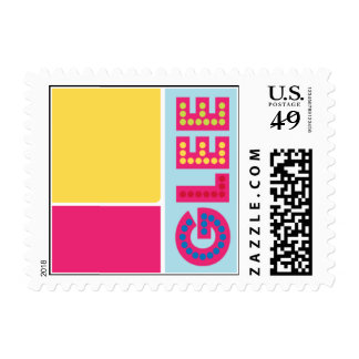 Gleeful Postage Stamp