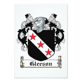 Gleeson Family Crest Personalized Invite