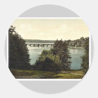 Gleinicker Bridge from Babelsberg, Potsdam, Berlin Classic Round Sticker