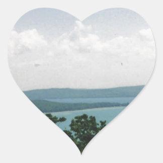 glen arbor heart sticker