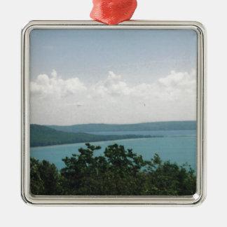 glen arbor square metal christmas ornament