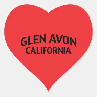 Glen Avon California Heart Sticker