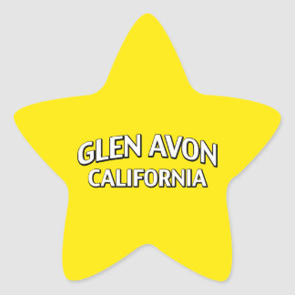 Glen Avon California Star Sticker
