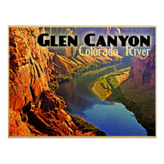 Glen Canyon Arizona Utah Postcard