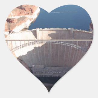 Glen Canyon Dam and Bridge, Arizona Heart Sticker