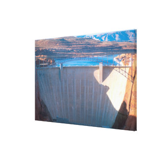 Glen Canyon Dam on the Colorado River at Page, Canvas Print