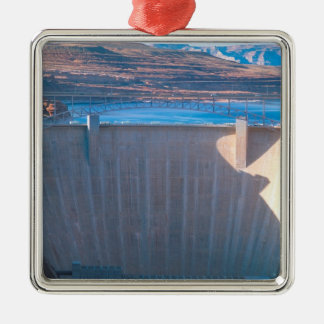Glen Canyon Dam on the Colorado River at Page, Square Metal Christmas Ornament