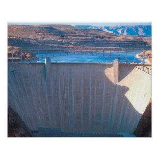 Glen Canyon Dam on the Colorado River at Page, Poster