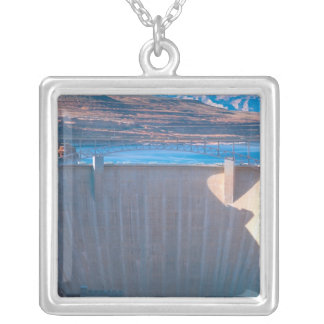 Glen Canyon Dam on the Colorado River at Page, Silver Plated Necklace