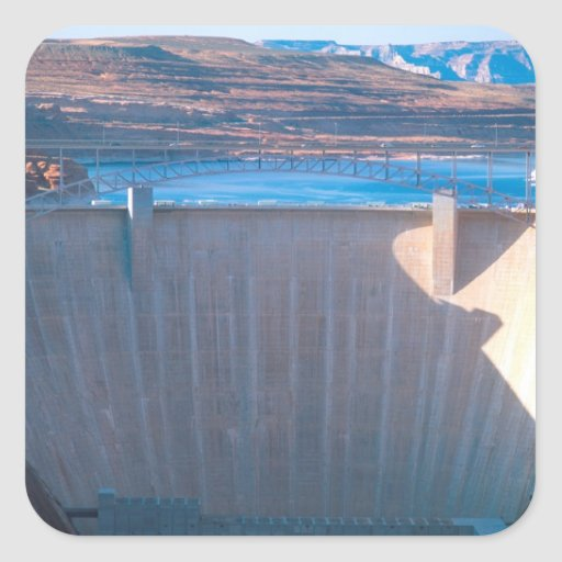 Glen Canyon Dam on the Colorado River at Page, Square Stickers