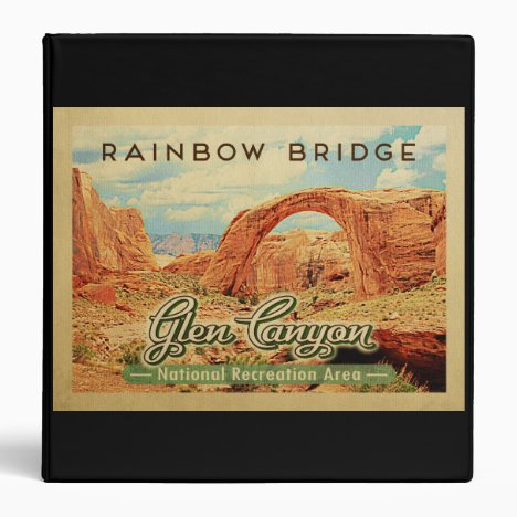 Glen Canyon National Recreation Vintage Travel 3 Ring Binder