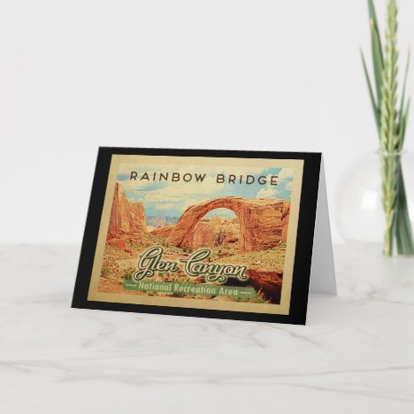 Glen Canyon National Recreation Vintage Travel Card