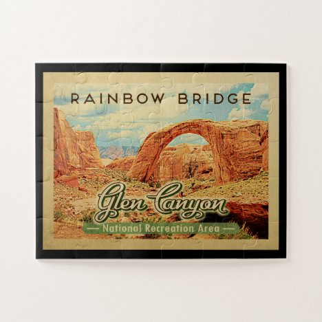 Glen Canyon National Recreation Vintage Travel Jigsaw Puzzle