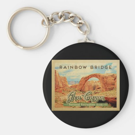 Glen Canyon National Recreation Vintage Travel Keychain