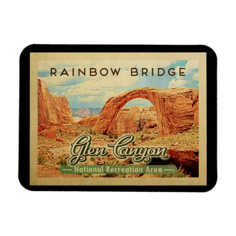 Glen Canyon National Recreation Vintage Travel Magnet