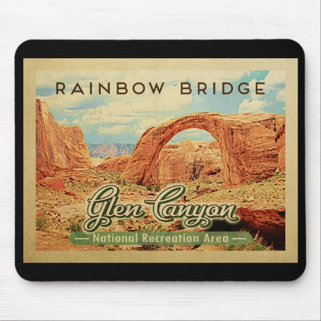 Glen Canyon National Recreation Vintage Travel Mouse Pad