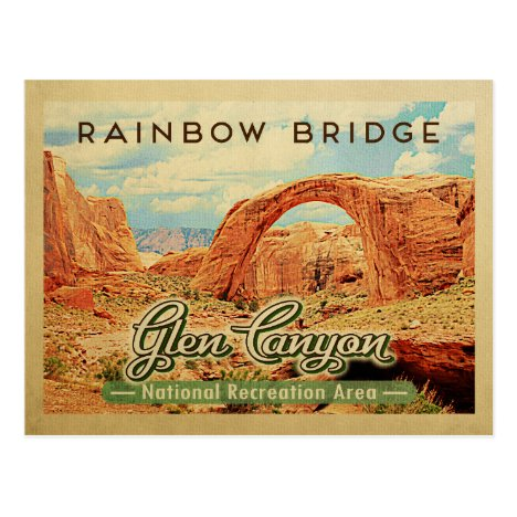 Glen Canyon National Recreation Vintage Travel Postcard