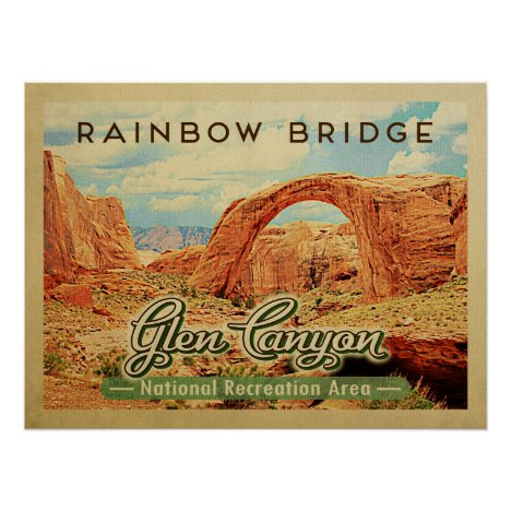 Glen Canyon National Recreation Vintage Travel Poster