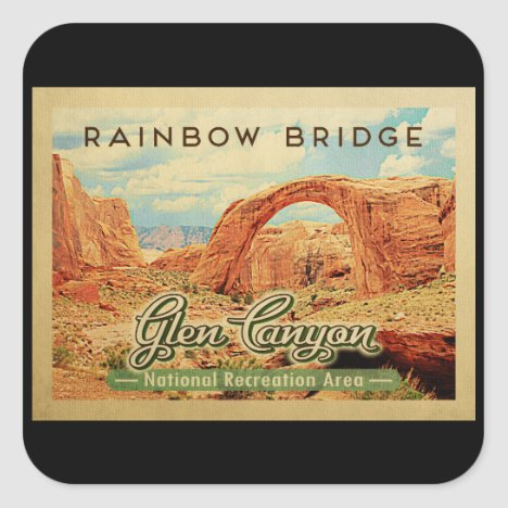 Glen Canyon National Recreation Vintage Travel Square Sticker